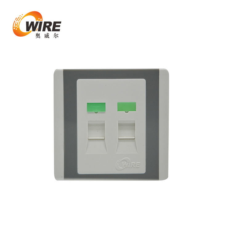 Owire 2 Port Keystone Jack Wall Plate , White