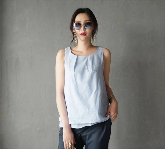 High quality New Fashion stylish Summer women Sleeveless Blouse for Ladies