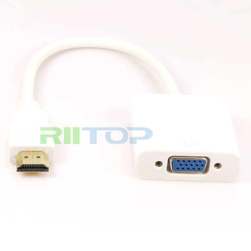 HDMI To VGA Converter Adapter Cable HD 1080P 1080P HDMI Male to VGA Female Video for PC DVD HDTV