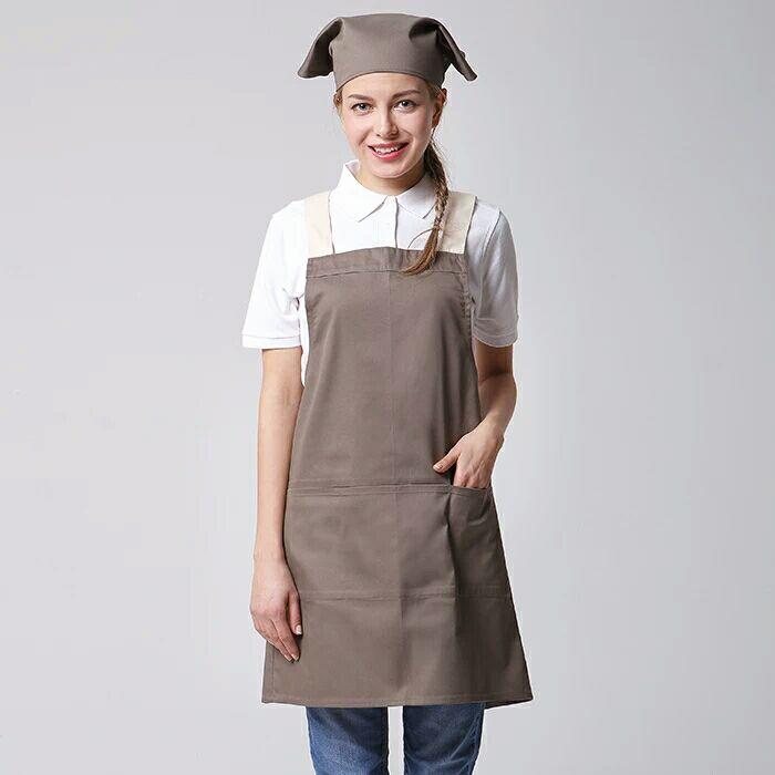 65% cotton 35% cotton twill embroidery kitchen bib aprons