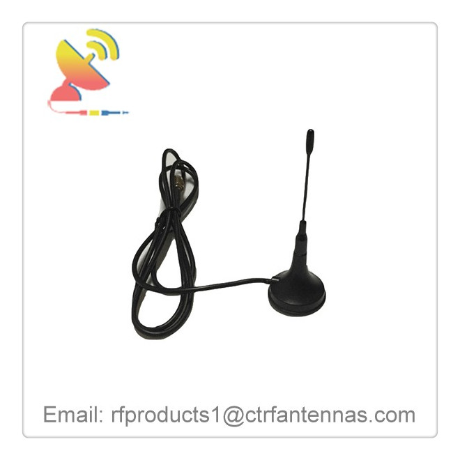 C&T RF Antennas Inc - GPS 1575.42mhz Magnetic CB mount sucker antenna with 3 M RG174 cable SMA male