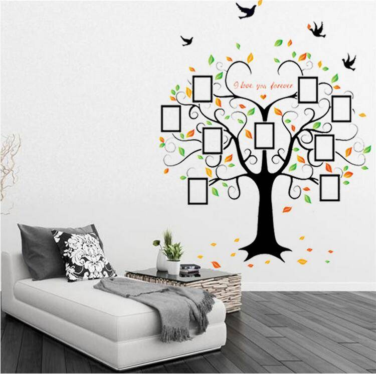 Whosales Removable Vinyl Wall Sticker Photo Family Heart Tree Sticker Factory Price