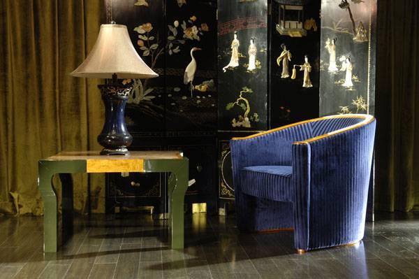 High-end designer furniture: round back chair & tea table, Shanghai JL&C Furniture