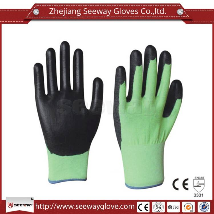 SeeWay B516 Ultrafine 18gauge HHPE Cut Resistant and PU Palm Dipped gloves