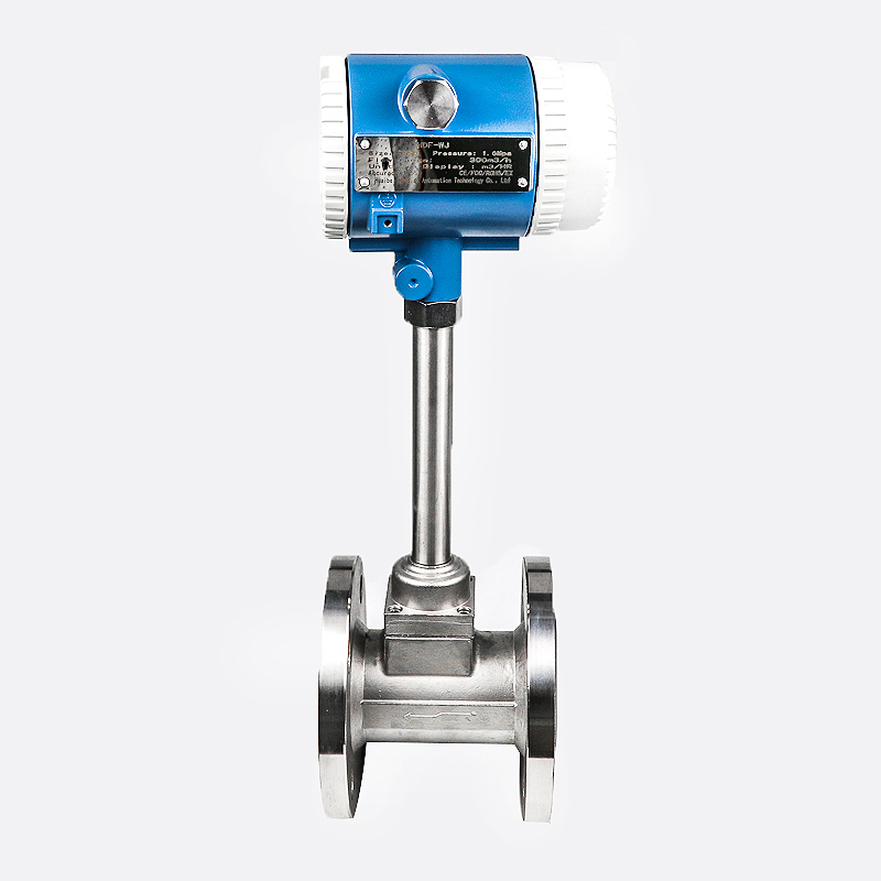 DIN Flange connection SS304 body PN16 high temperature vortex flow meter for exhaust gas