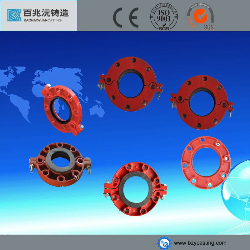 High Quality FM&UL ductile iron Grooved Pipe Fittings & Grooved Pipe Coupling clevis metal fitting