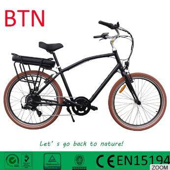 2016 BTN hot sale 36v500w beach cruiser electric bike china with bafang torque sensor
