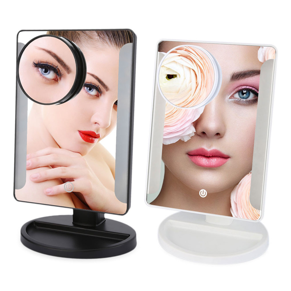 Moveable 10X Magnification Adjustable Brightness Touch 36 Led Lighted Make up Mirror