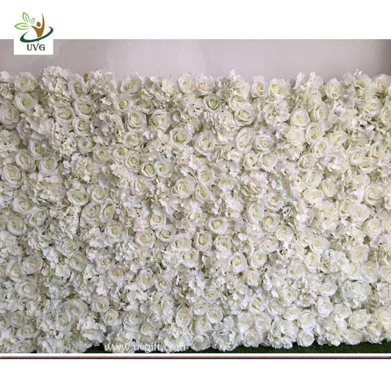 UVG DIY party background in silk rose and hydrangea flower wall backdrops for weddings