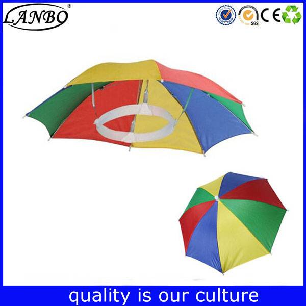 New Fishing Travel Umbrella hat Head umbrella holes lace custom umbrella hat