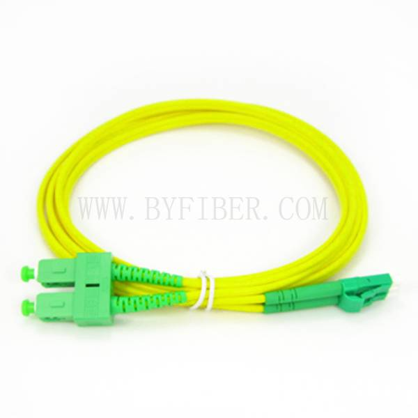 LC/APC to SC/APC Duplex Single Mode Fiber Optic Patch Cable 2.0mm 3.0mm