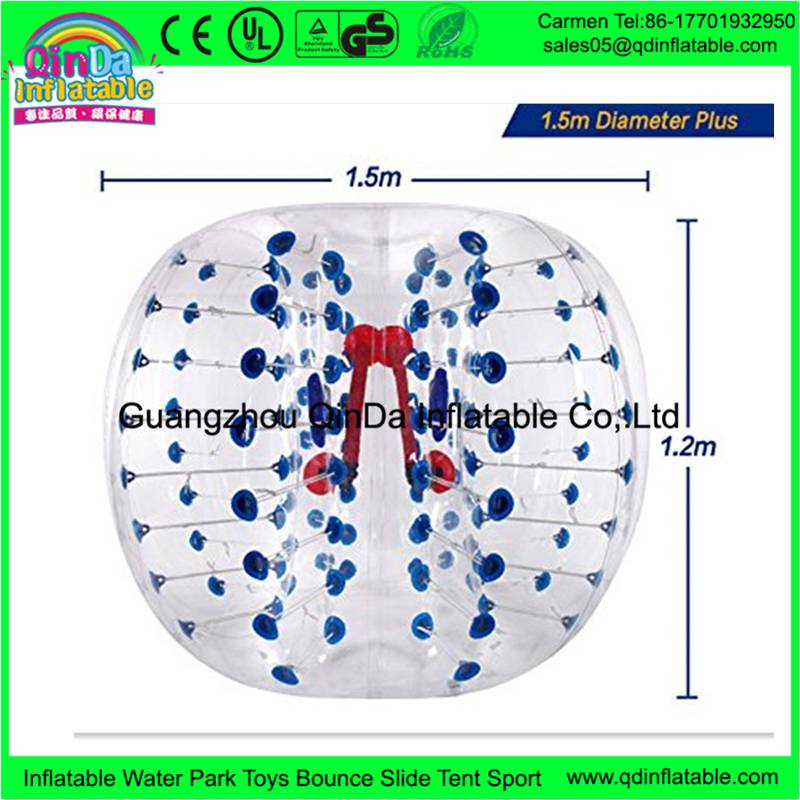 inflatable bumper ball or bubble ball suit or bubble football