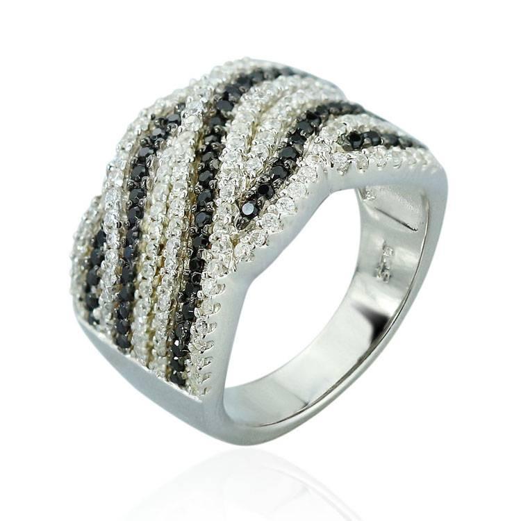 2015 Manli Fashion  top quality black and white Ring
