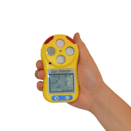 Portable compound gas alarming detector