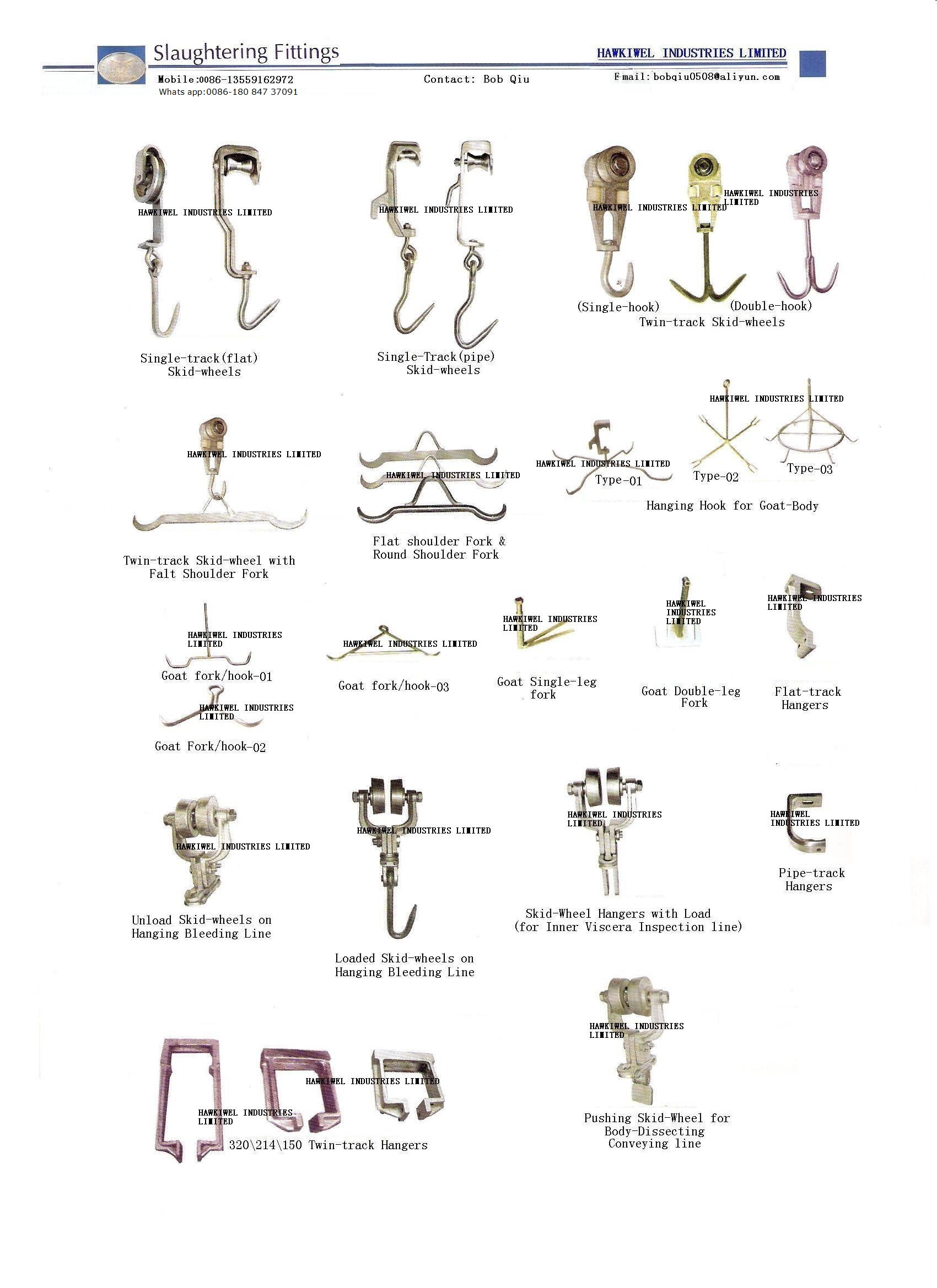 slaughteirng equipment/machinery parts/accessary