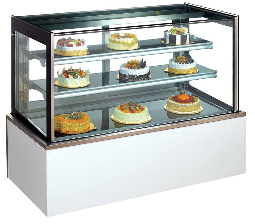 Marble Cake Display Showcase Cabinet Stainless Steel Cake Display Refrigerator