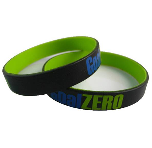 customized silicone wristband, high quality silicone rubber