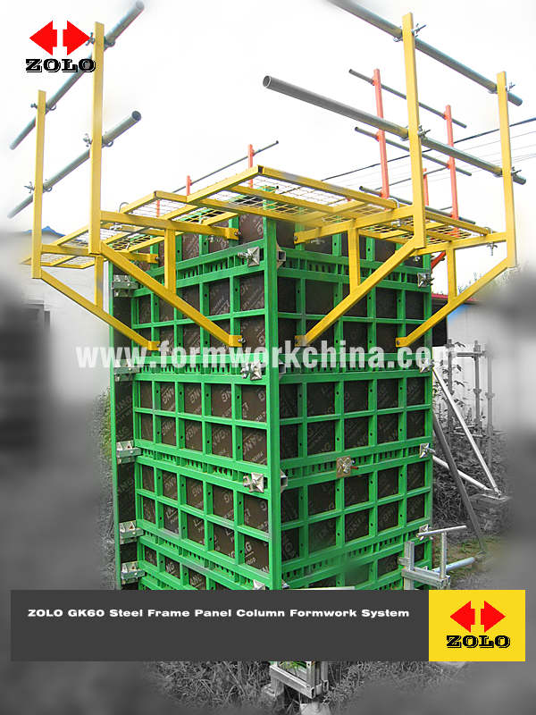 Zolo GK60 Steel Frame Panel Column Formwork