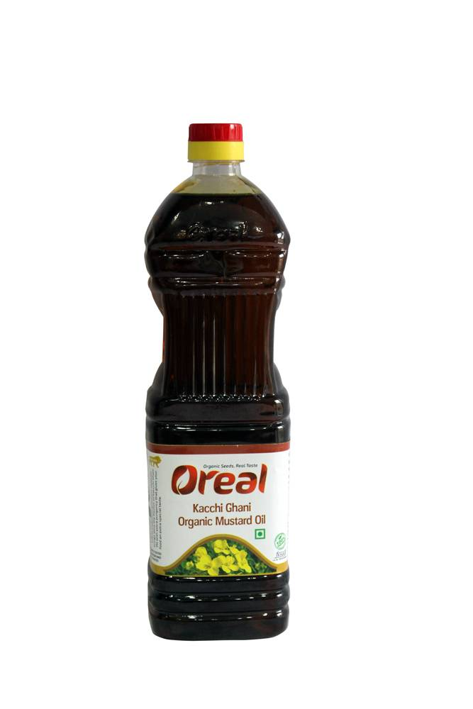 OREAL ORGANIC KACCHI GHANI MUSTARD OIL 1LTR (PACK OF 12)