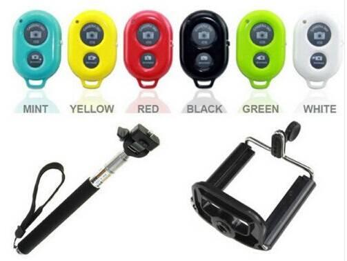 SELFIE STICK + BLUETOOTH SHUTTER REMOTE TELESCOPIC MONOPOD GO PRO iPhone Samsung