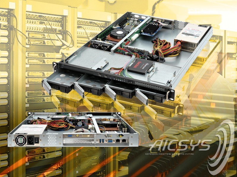 1U Industrial Server Chassis for PICMG 1.3 SBC Board: RCK-107BR