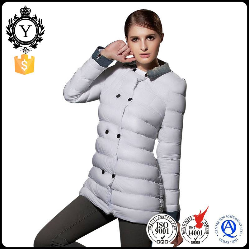 COUTUDI oem factory china white womens goose down jacket parka / wholesale parka jackets