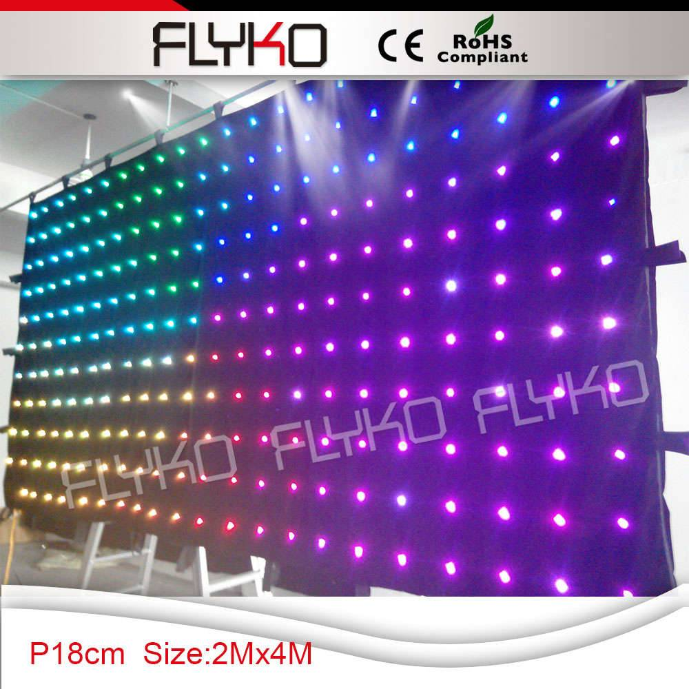 led stage background video curtain P18 2x4m