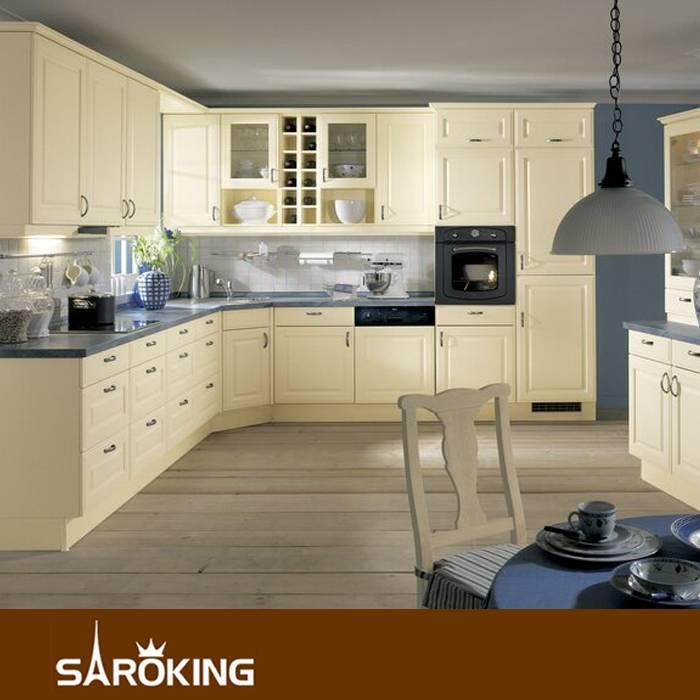 Modern Style PVC membrane Kitchen Cabinet