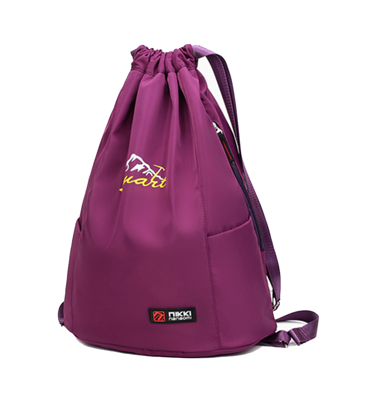 Drawstring travel backpack waterproof nylon folding large capacity backpack