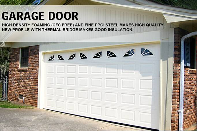 Modern steel sectional automatic garage door 40mm