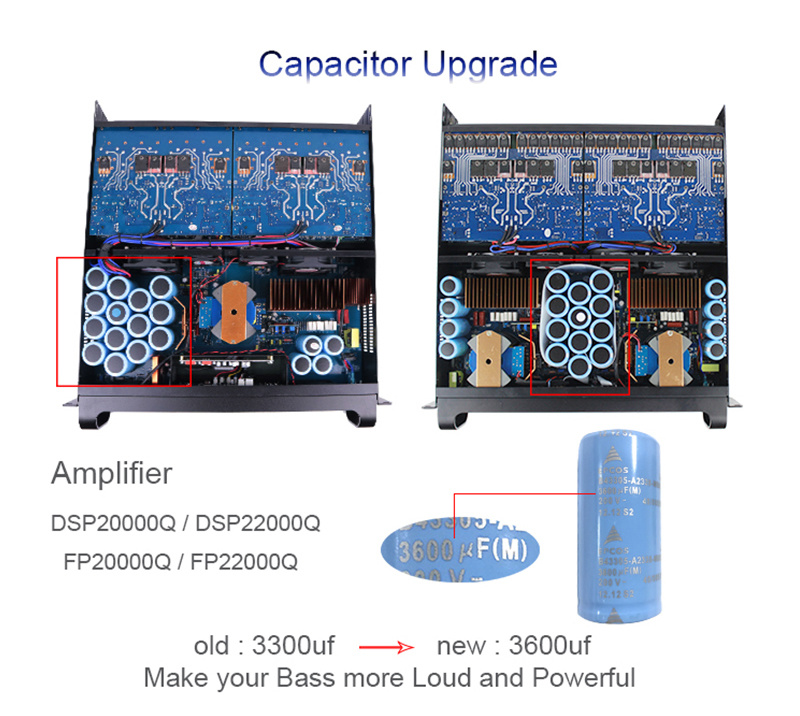 4 channel PA professional amplifier subwoofer FP22000Q 10000 watt power amplifier