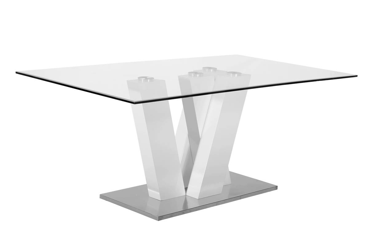 Modern Design Dining Table - Made in Italy Glass Tables