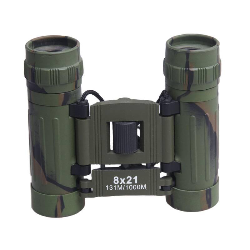 Quality 8x21 Binoculars Optical Lens Folding Binoculars for Outdoor Hunting