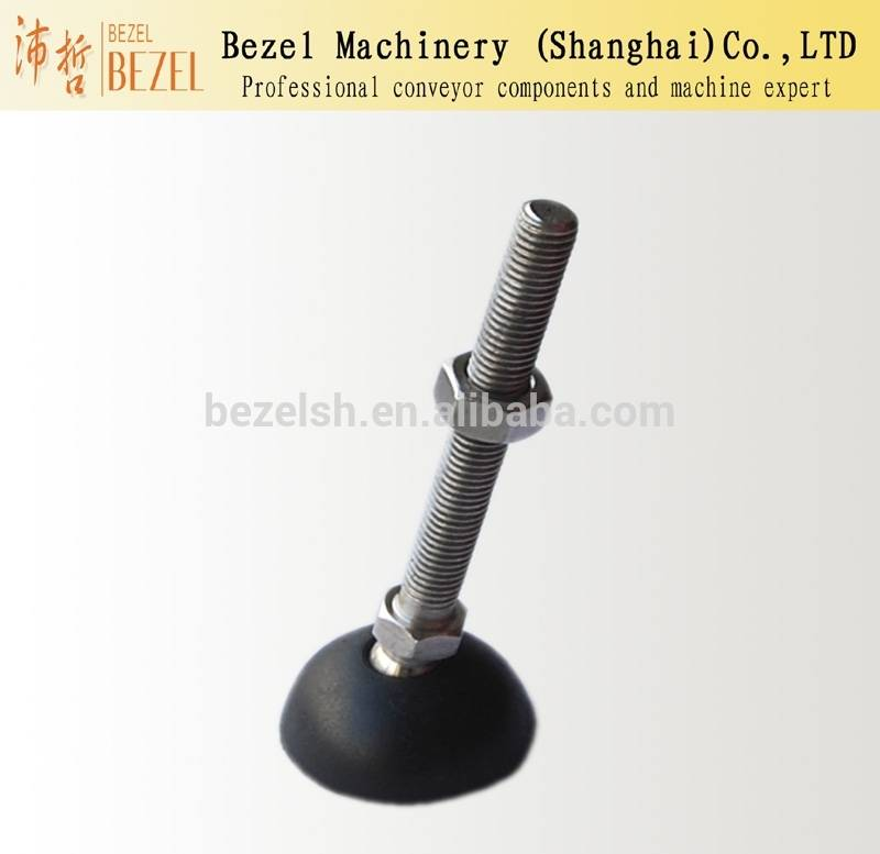 Articulated feet,Nylon with rubber pad conveyor feet