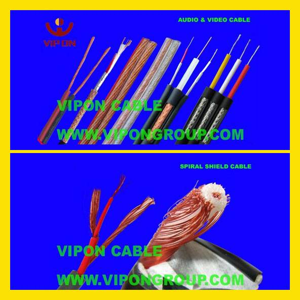 Spiral Shield Cable, Audio Cable, Speaker/ Microphone/Video/AV Cable