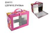 PVC window cosmetic box with color printing