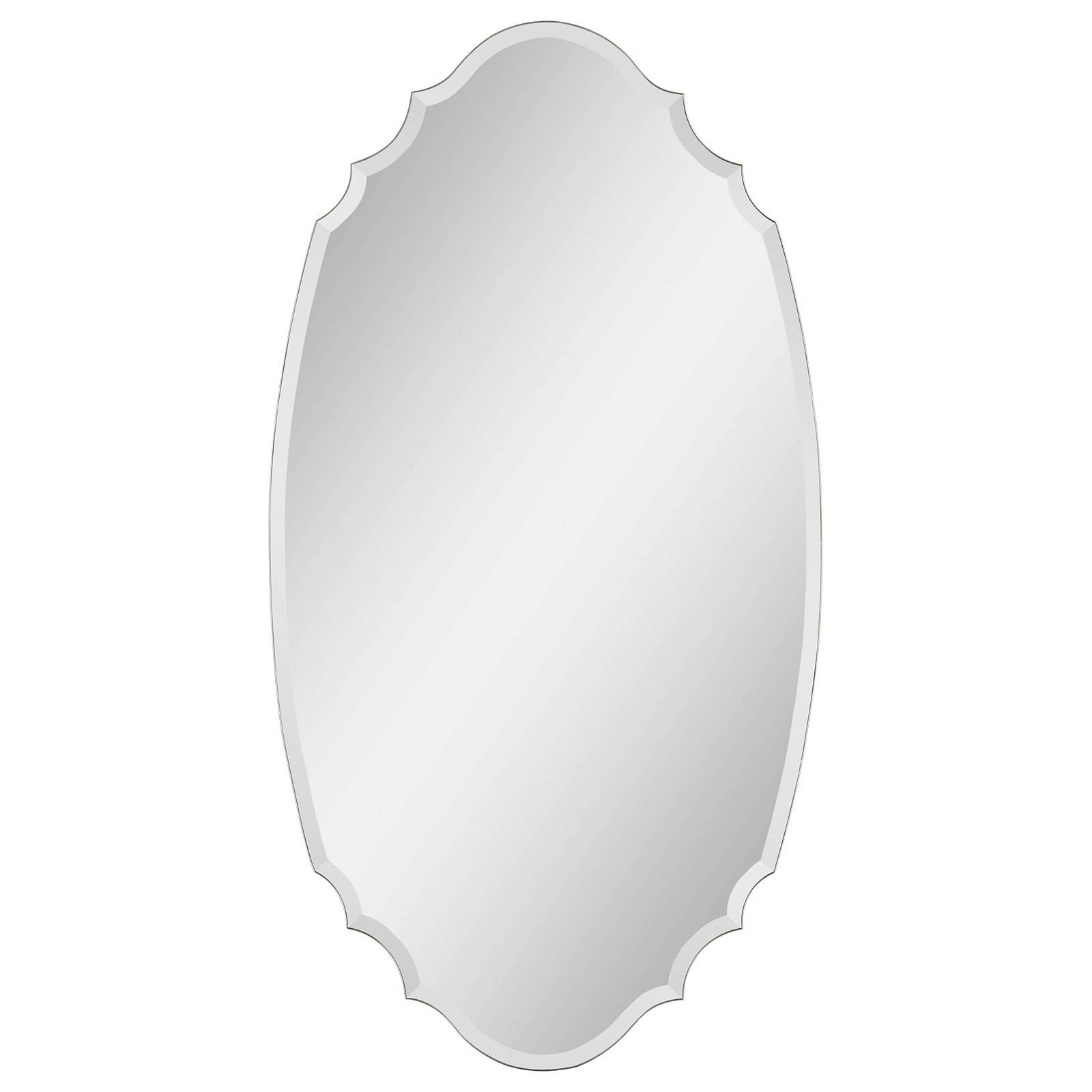 Modern decorative high quality etched frameless silver mirror