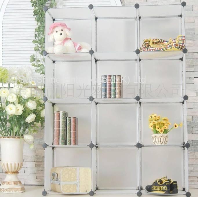 plastic free cube storage shelf
