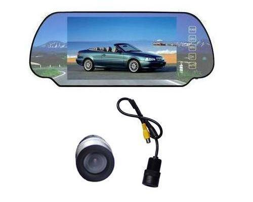 Rear View Monitor - 7 Inch Rear View Mirror with TV and Camera