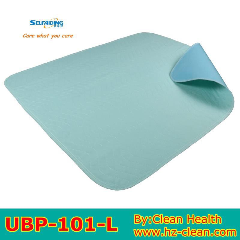 Reusable incontinence bed pad, TPU laminated