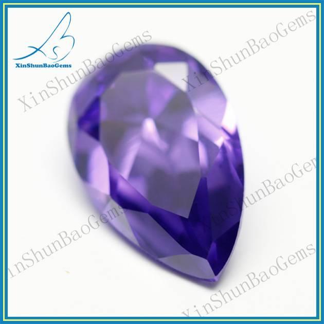 Purlish red pear cut synthetic wuzhou diamond wholesale