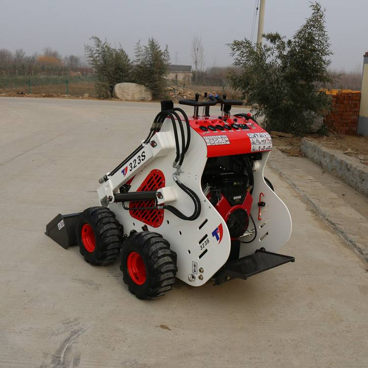 Mini skid steer loader WSR200 with different attachments for farm garden and construction