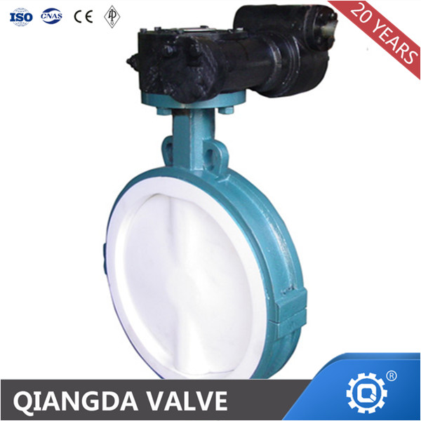 API609 Wafer Soft Seal Butterfly Valve PTFE SEATED