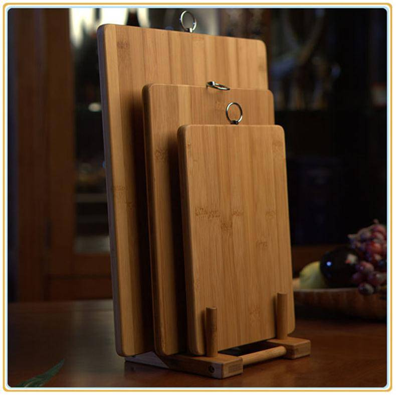 TF073/Totally bamboo material cutting board ,bamboo chopping blocks with hanger