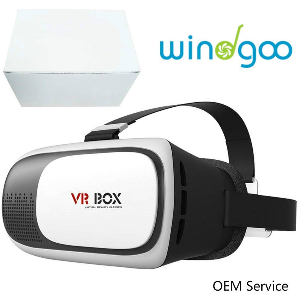 2016 Hottest Wholesales 360 Degree Virtual Reality 3D Glasses for Moive Game VR Box 2.0
