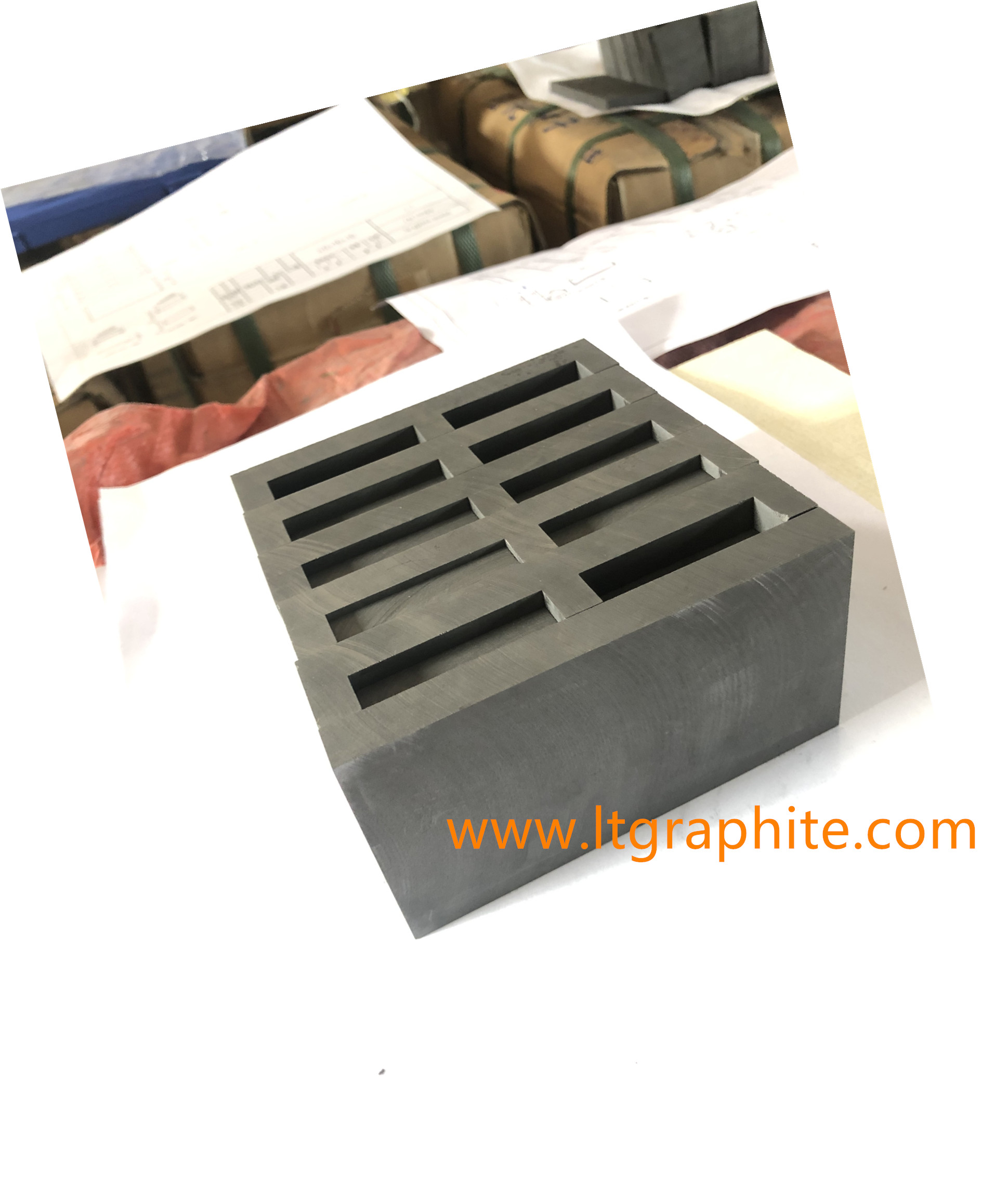 High Purity Extruded Graphite Materials Customized Sintering Graphite Mold