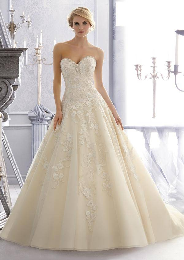 2014 New Custom Made Ivory/White Satin Lace Beanding Crystal Wedding Dress Bridal Gown Bridal Dress