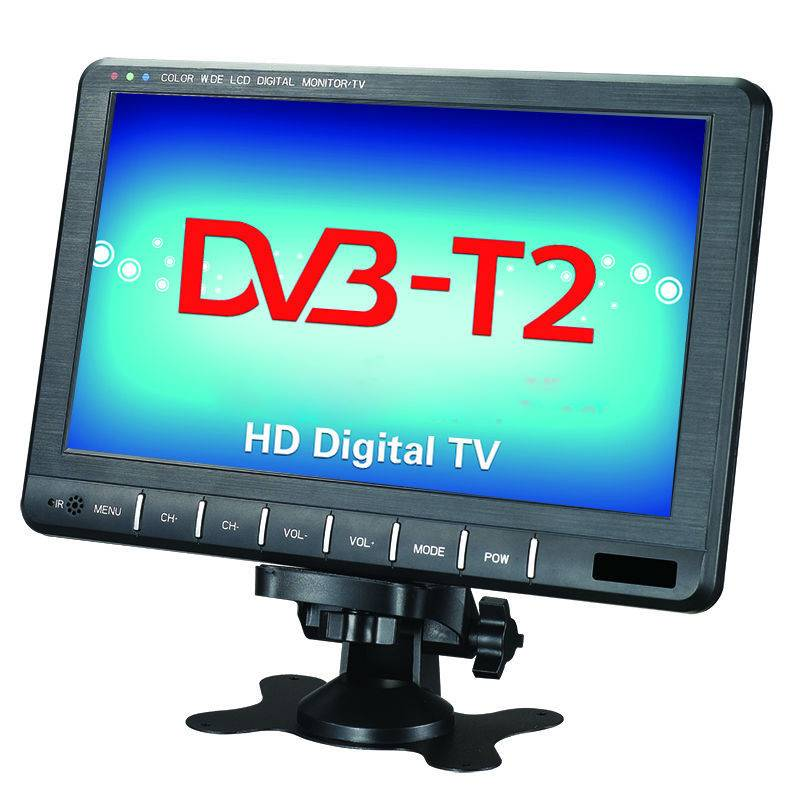 9 inch hd DVB-T2 LCD TV for  Outside/Indoor using