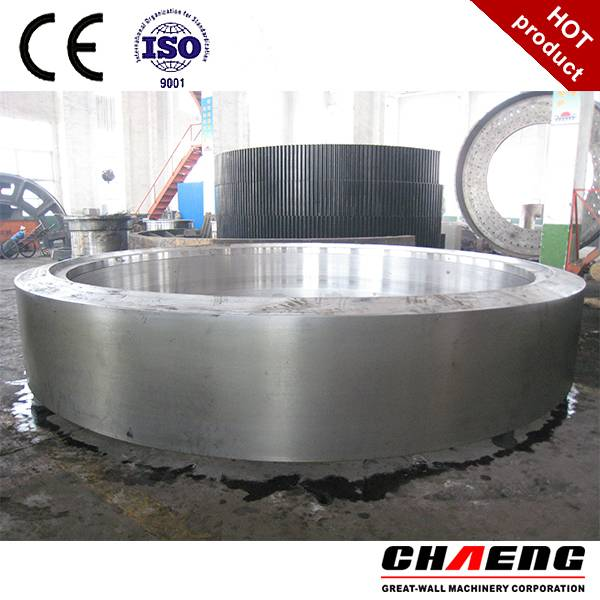 customed casting steel kiln tyre for cement plant