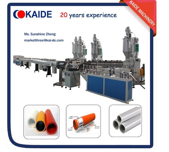 Multilayer PEX-AL-PEX/PPR-AL-PPR pipe extruder machine Overlap Welding KAIDE